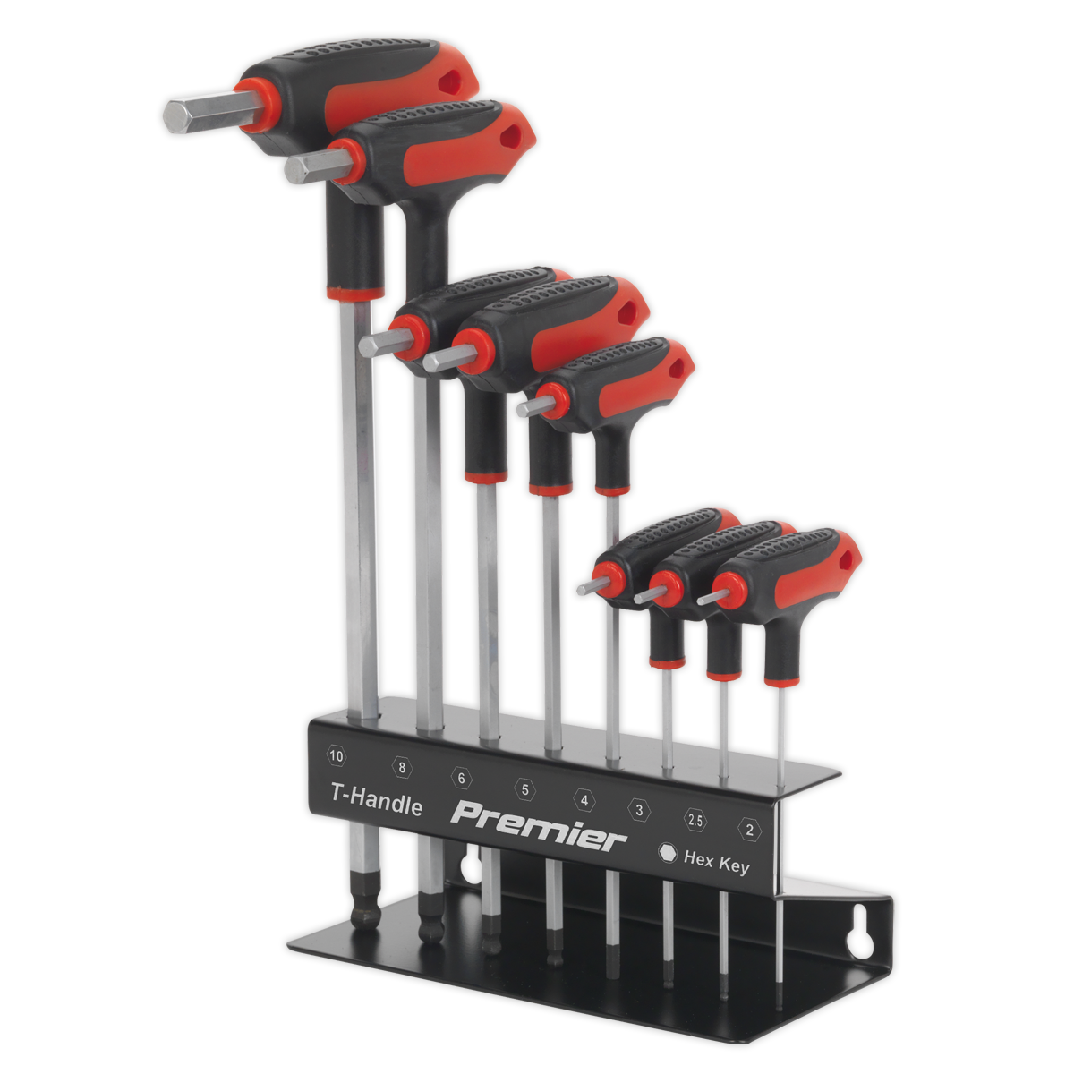 Ball-End Hex Key Set 8pc T-Handle Metric