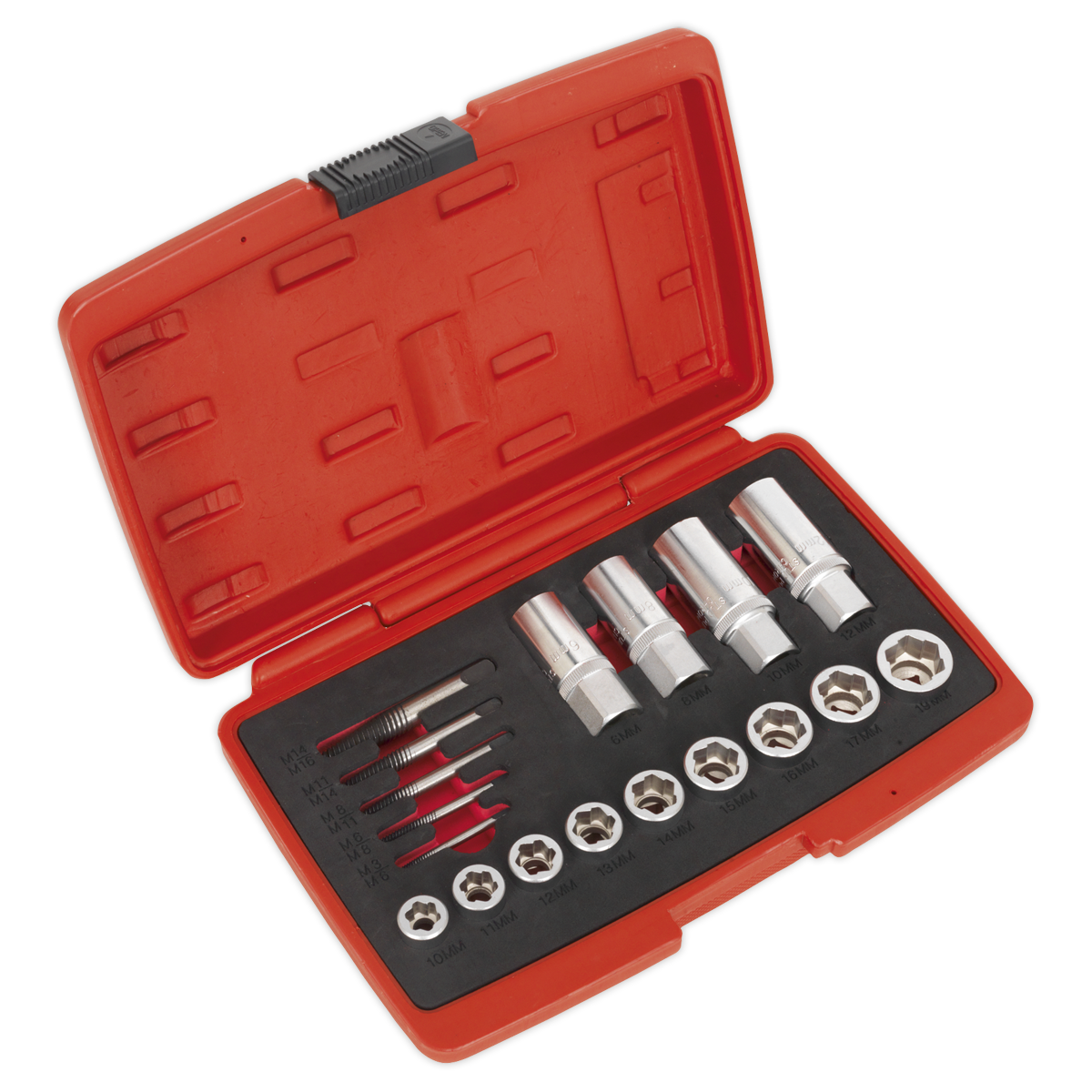 Bolt\, Stud & Screw Extractor Set 18pc