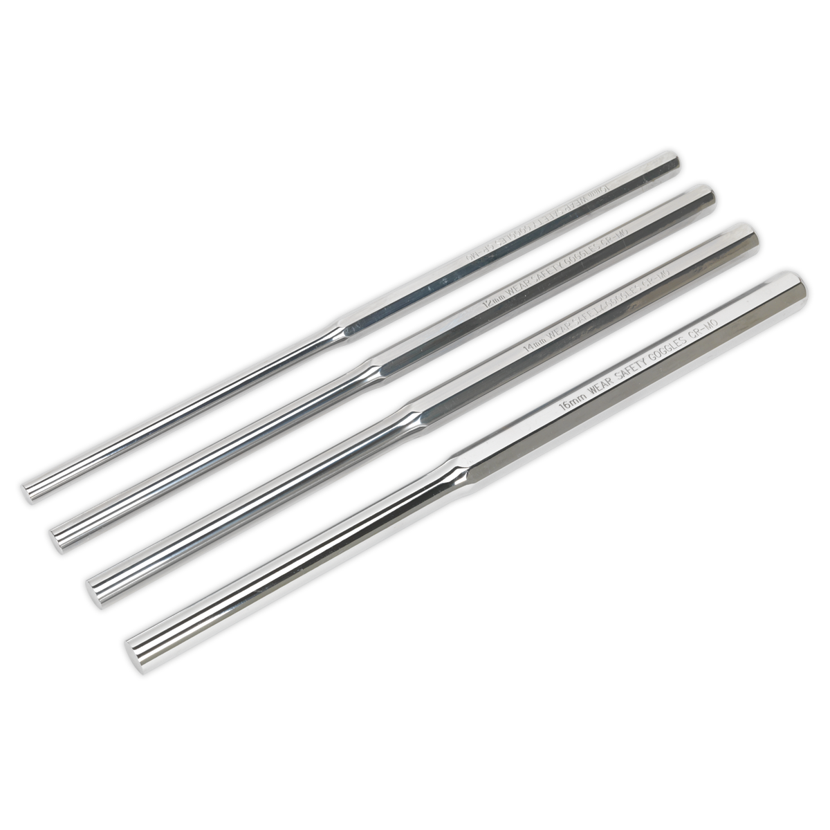 Parallel Pin Punch Set 4pc Extra-Long