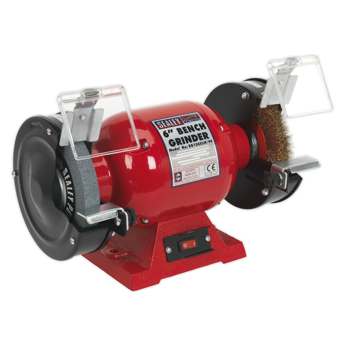 Bench Grinder ?150mm with Wire Wheel 370W/230V