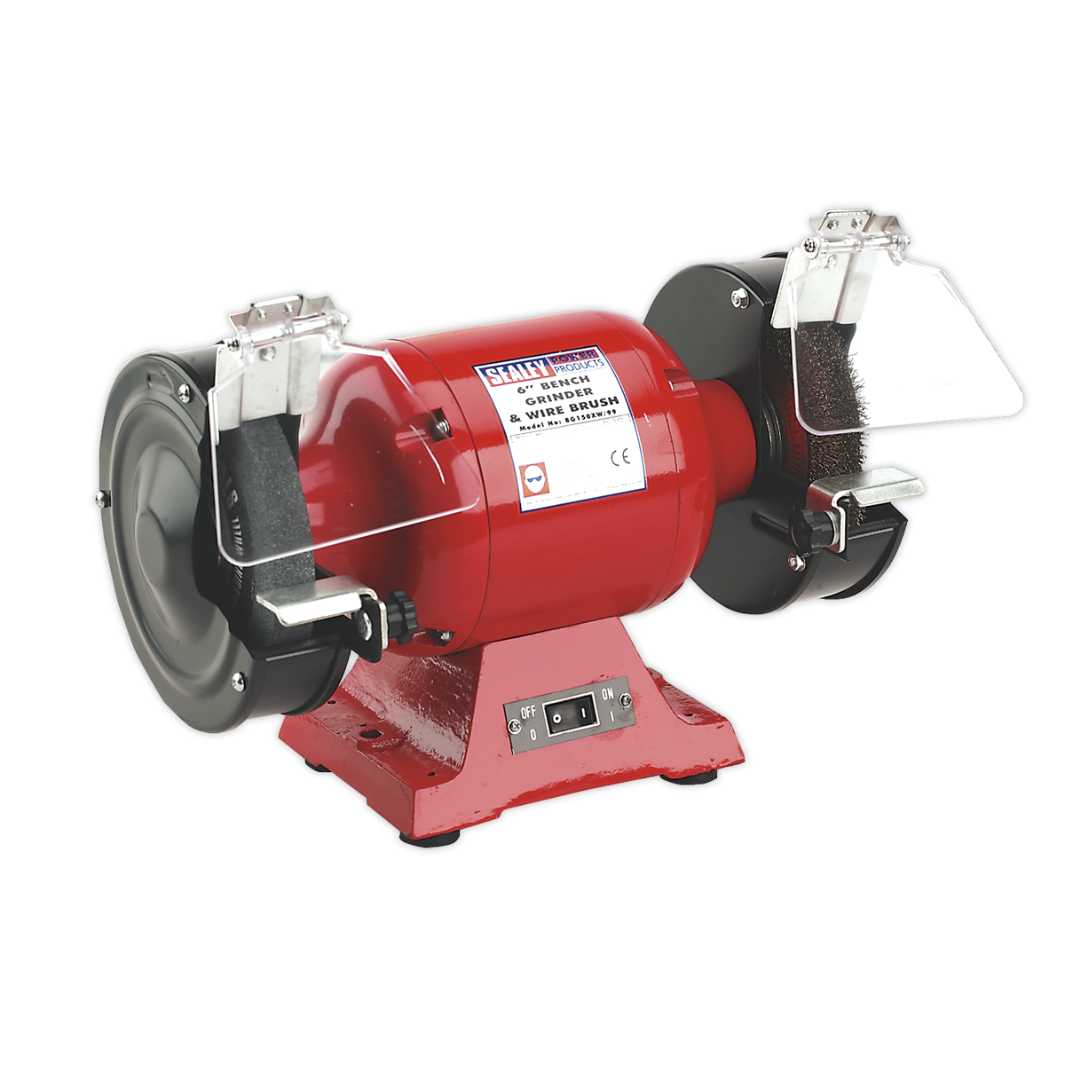 Bench Grinder ?150mm with Wire Wheel 450W/230V Heavy-Duty