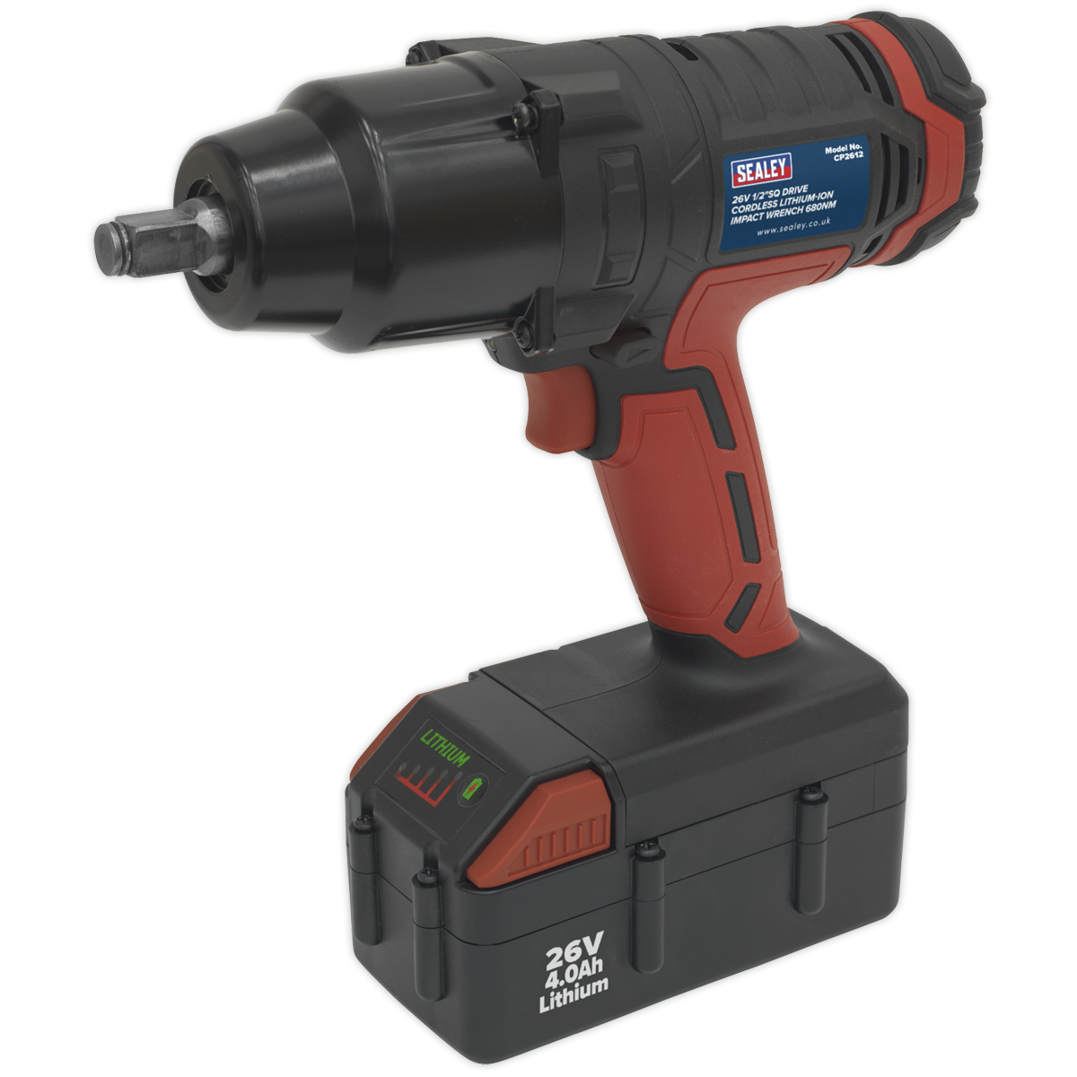 Cordless Impact Wrench 26V Lithium-ion 1/2