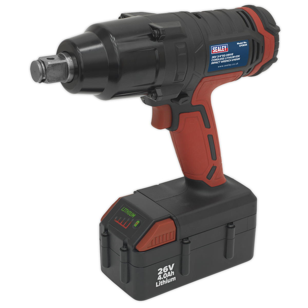 Cordless Impact Wrench 26V Lithium-ion 3/4