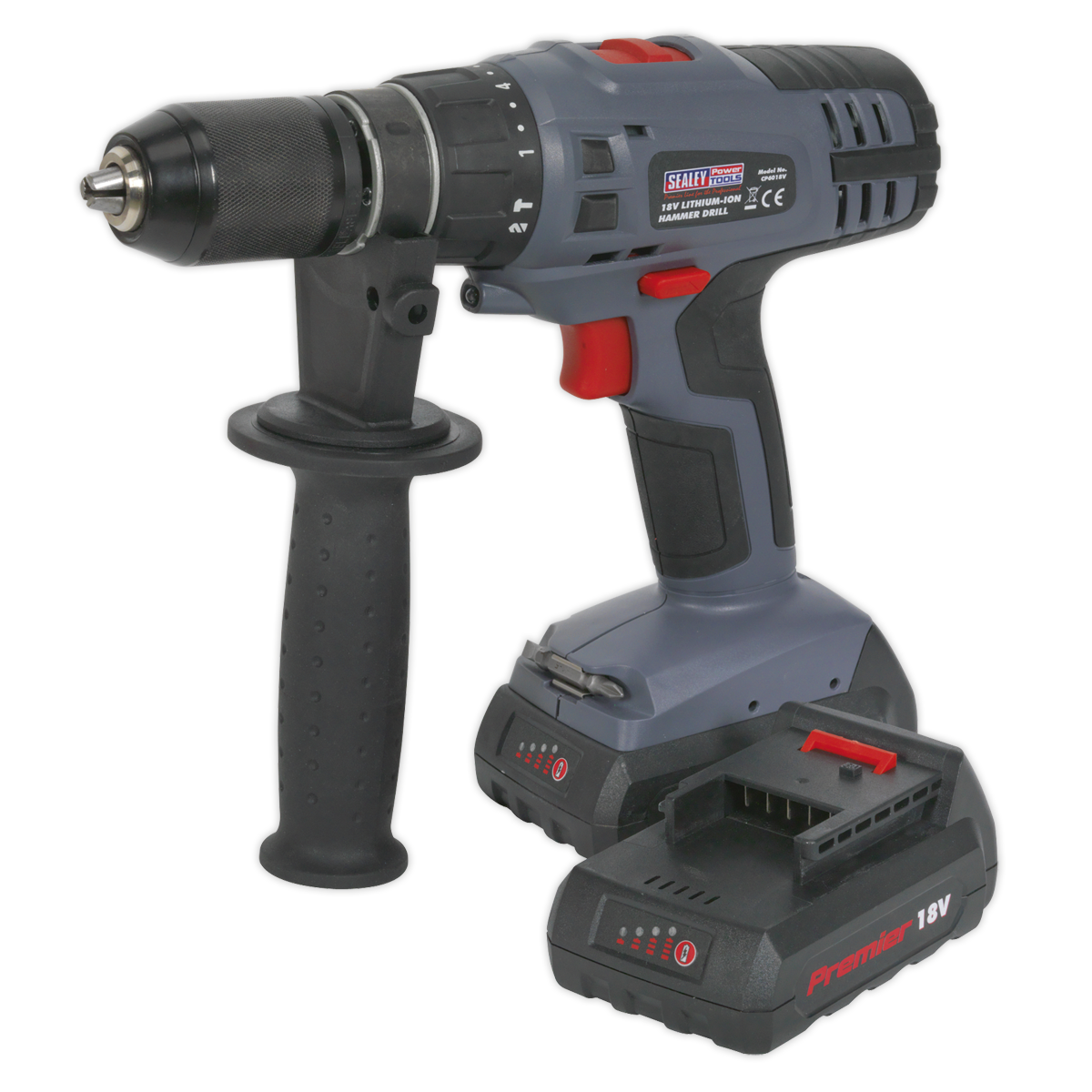 Cordless Hammer Drill/Driver ?13mm 18V Lithium-ion Super Torque 1hr Charge - 2 Batteries