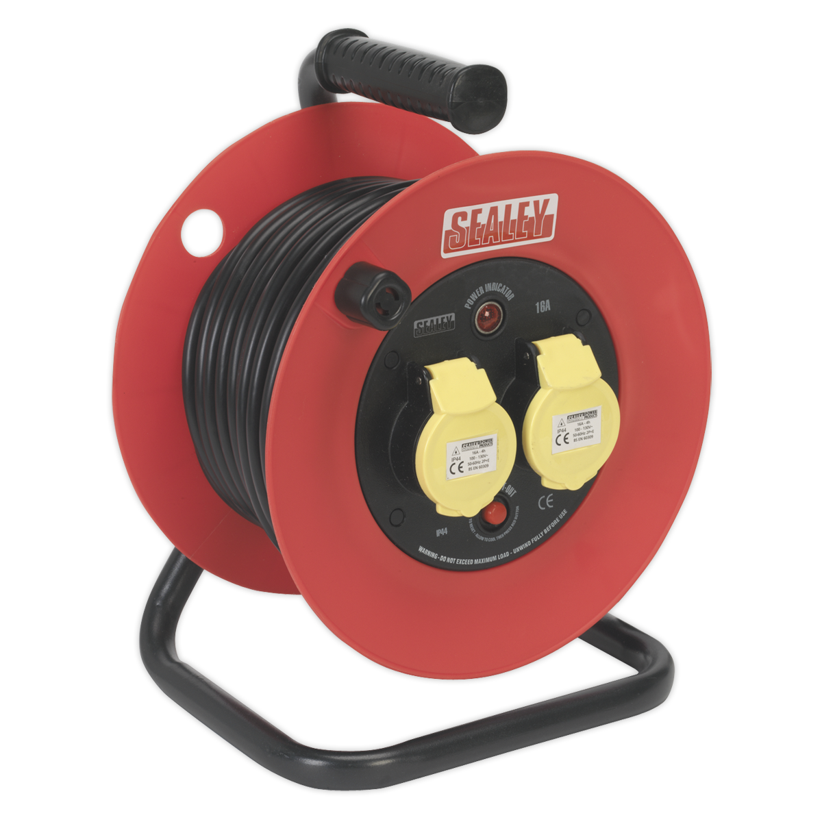 Cable Reel 25mtr 2 x 110V 1.5mm? Heavy-Duty Thermal Trip