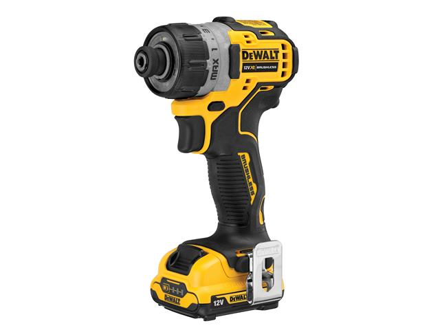 DCF601D2 XR Brushless Sub-Compact Screwdriver 12V 2 x 2.0Ah Li-ion
