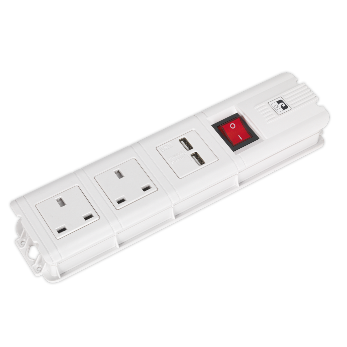 Extension Cable 3mtr 2 x 230V + 2 x USB Sockets - White