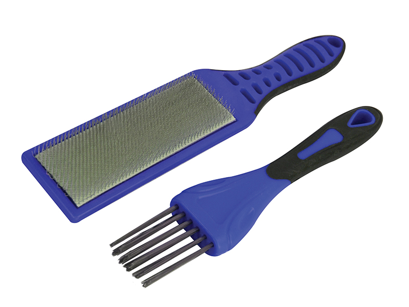 2 Piece File Card Brush Kit