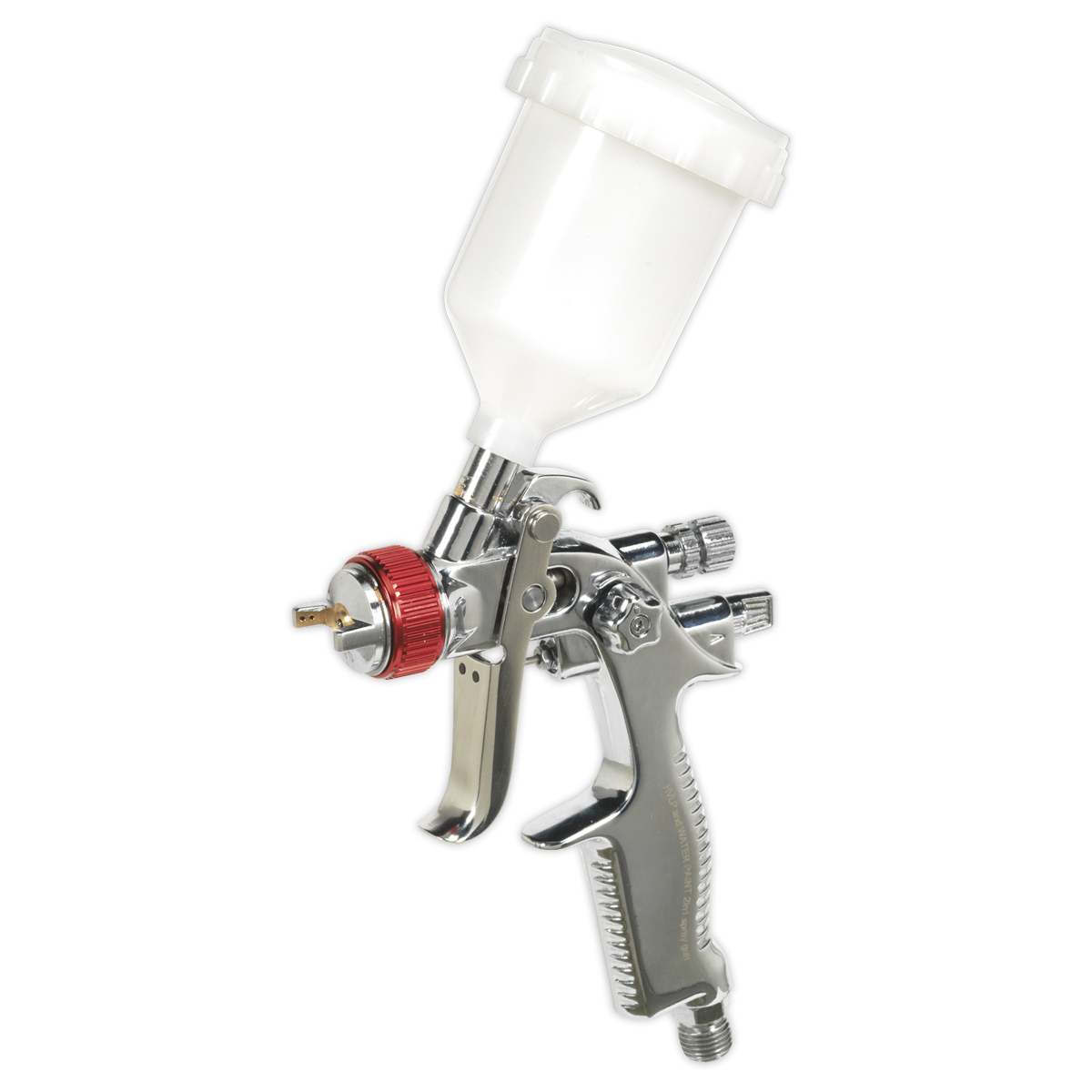 HVLP Gravity Feed Touch-Up Spray Gun 0.8mm Set-Up