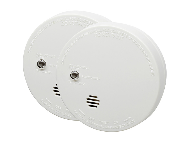9040TLSB Ionisation Smoke Alarm With Test (Twin Pack)