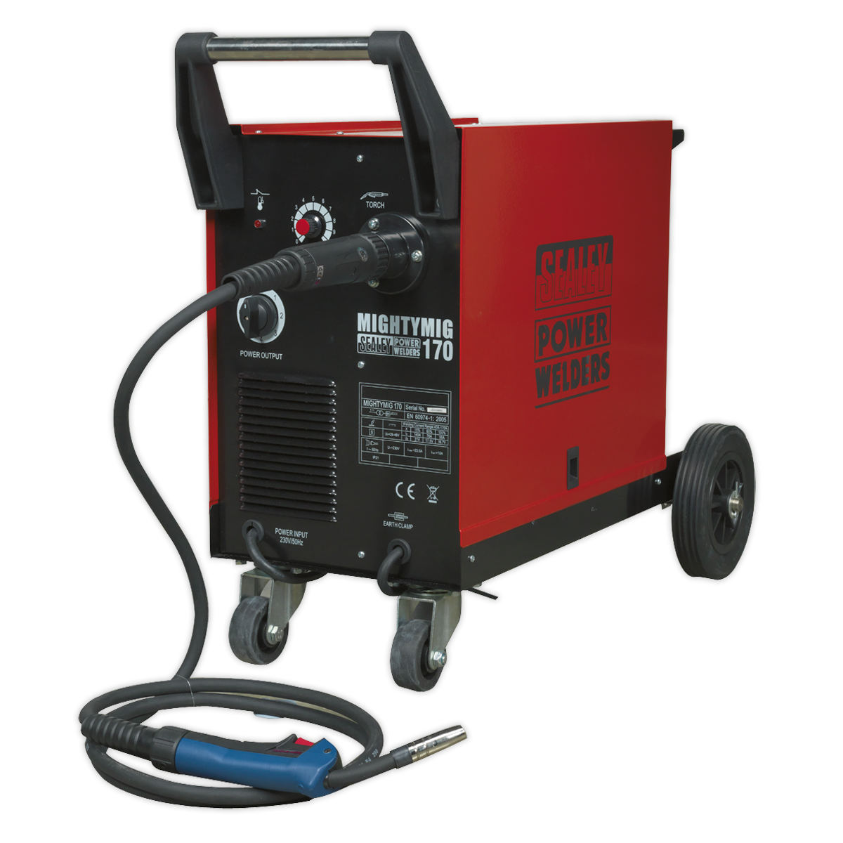Professional Gas/No-Gas MIG Welder 170Amp with Euro Torch