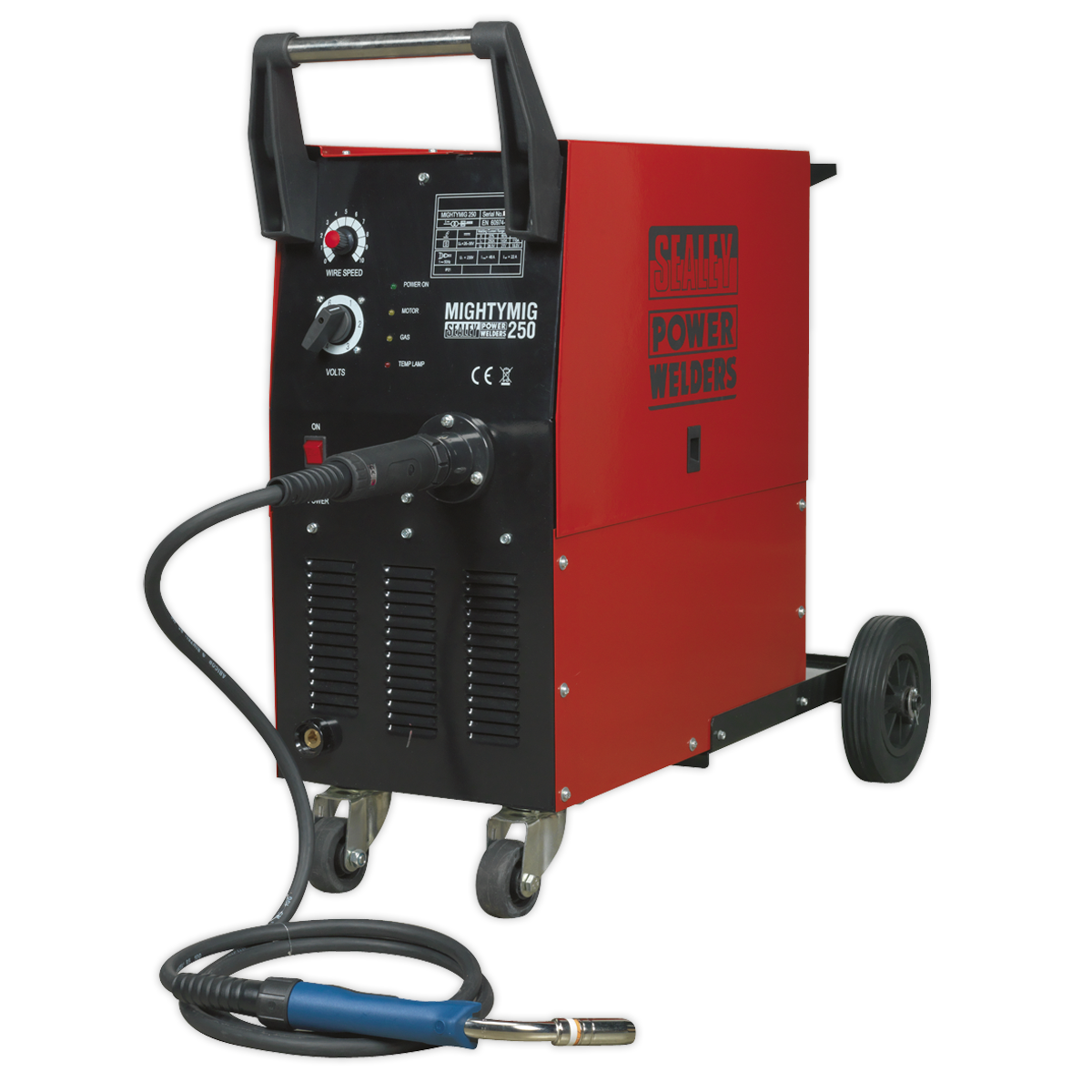 Professional Gas/No-Gas MIG Welder 250Amp with Euro Torch
