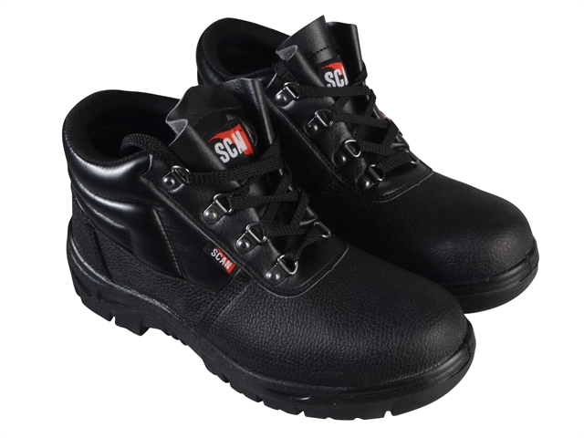 4 D-Ring Chukka Black Safety Boots UK 7 Euro 41