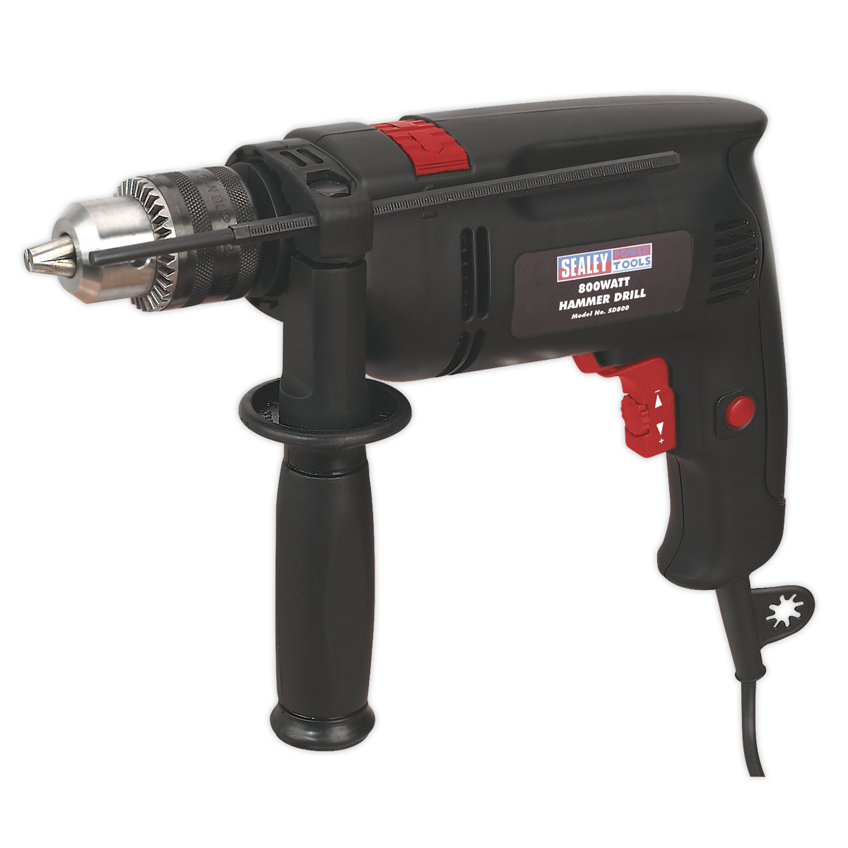 Hammer Drill 13mm Variable Speed with Reverse 850W/230V