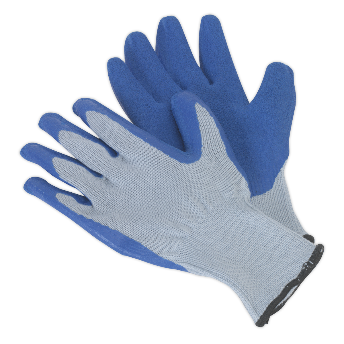 Latex Knitted Wrist Gloves - Large Pack of 12 Pairs