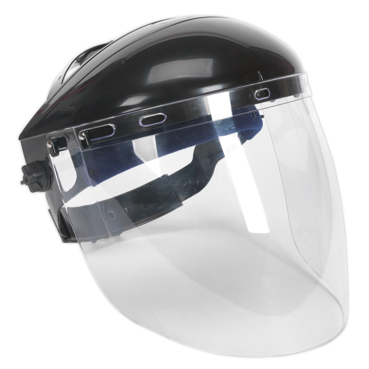 Deluxe Browguard with Aspherical Polycarbonate Full Face Shield