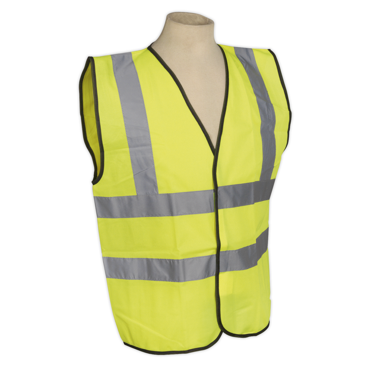 High Visibility Waistcoat EN ISO 20471 Extra Large