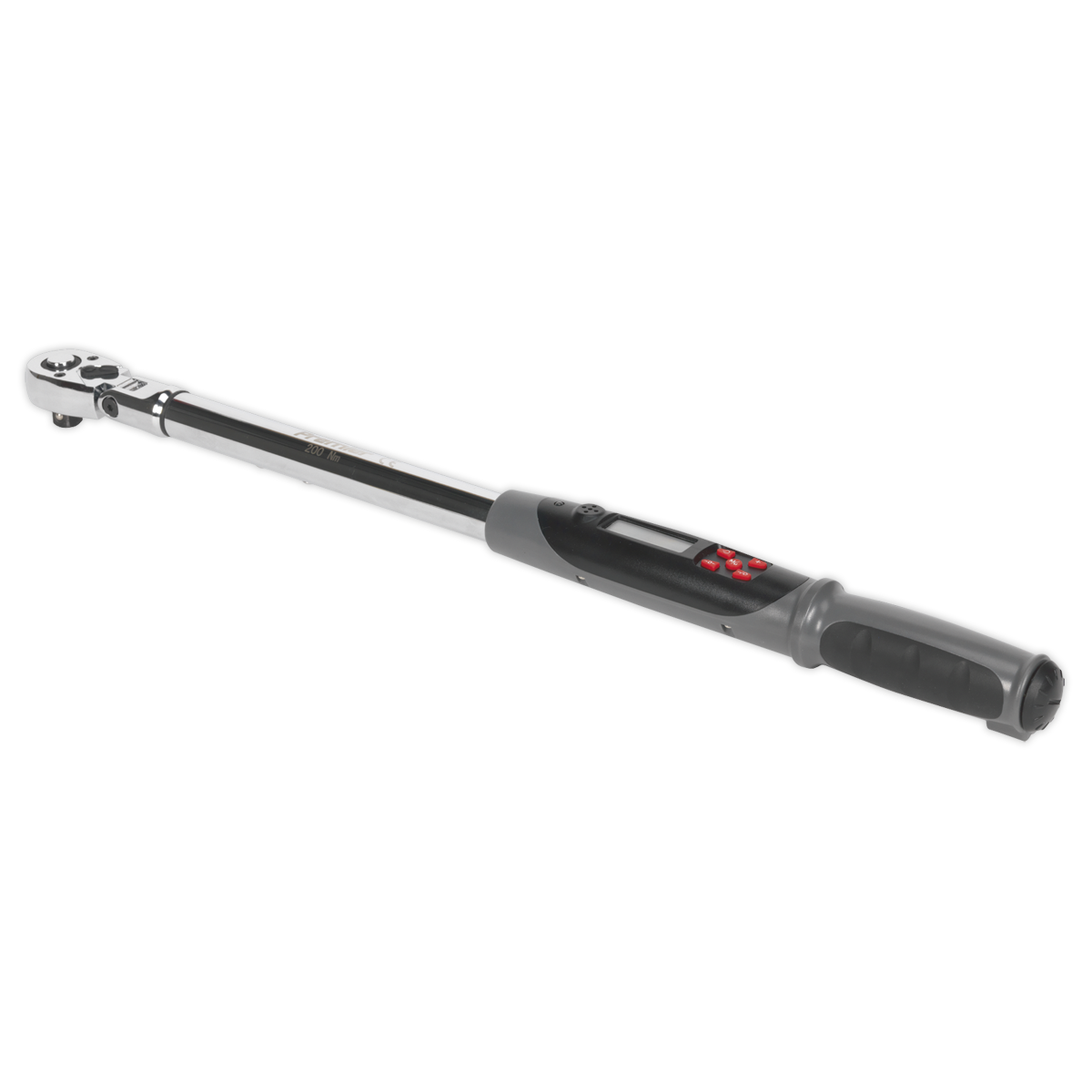 "Angle Torque Wrench Flexi-Head Digital 1/2""Sq Drive 20-200Nm(14.7-147.5lb.ft)"