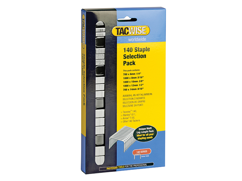 140 Heavy-Duty Staples (Type T50\, G) Selection Pack 4400