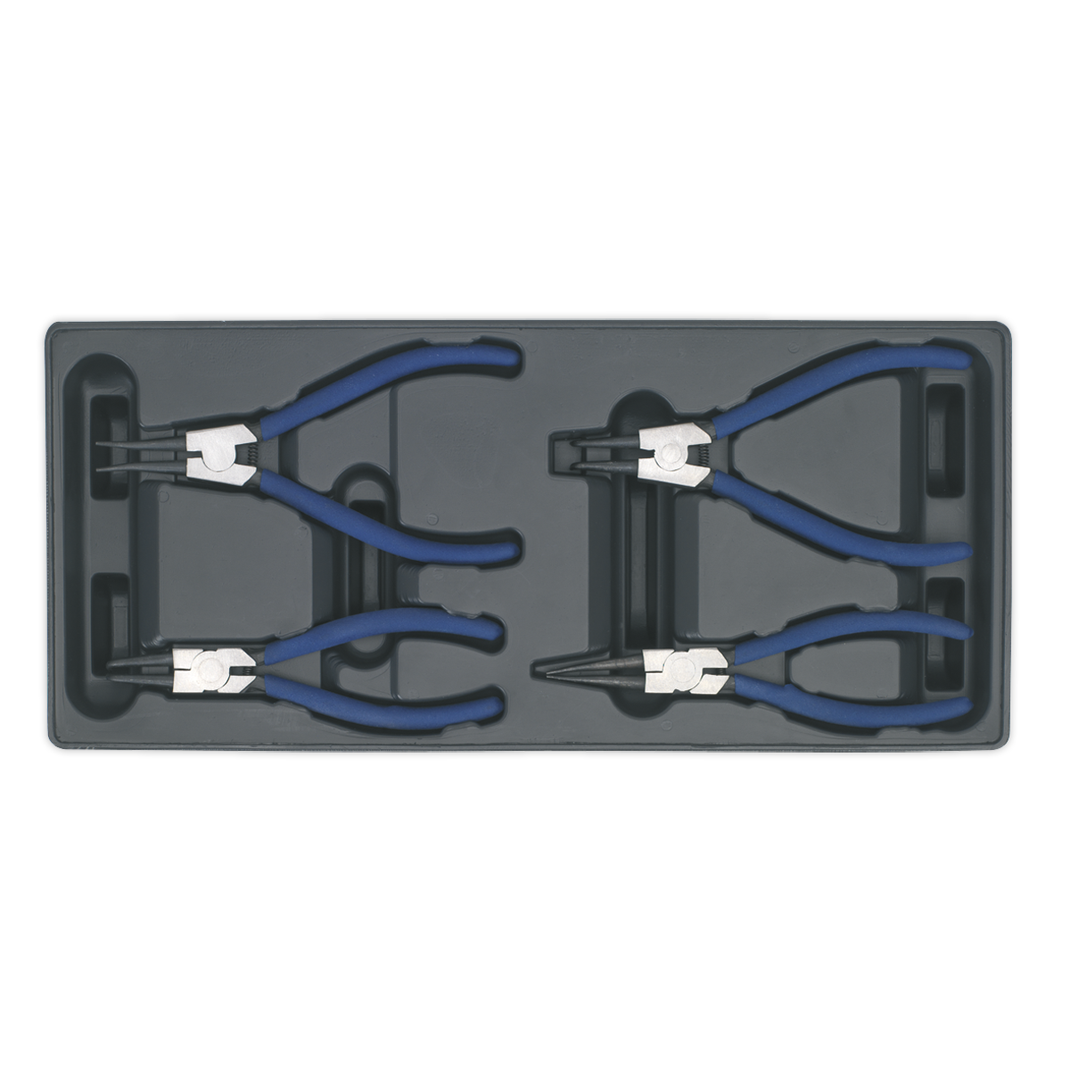 Tool Tray with Circlip Pliers Set 4pc