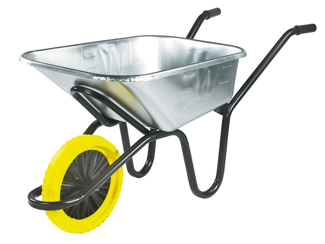 120L Galvanised Heavy-Duty  Invincible Wheelbarrow - Puncture Proof