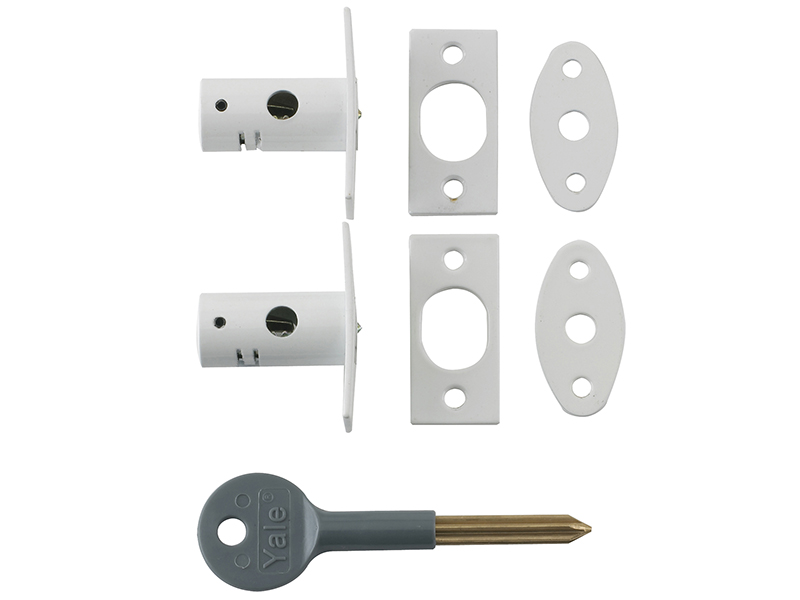 8001 Security Bolts White Finish Pack of 2 Visi