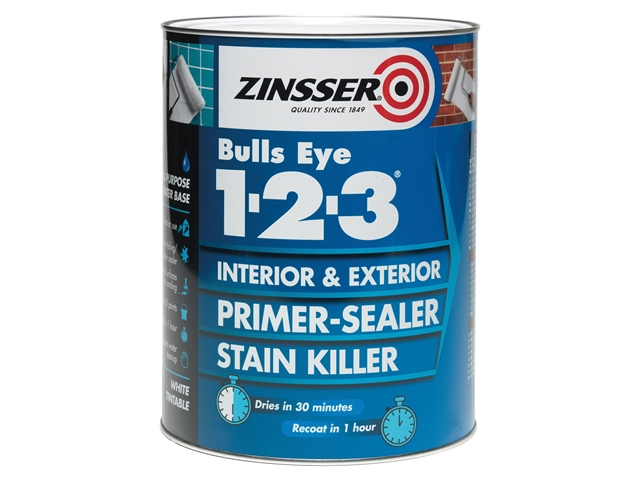 123 Bulls Eye Primer & Sealer Paint 2.5 Litre