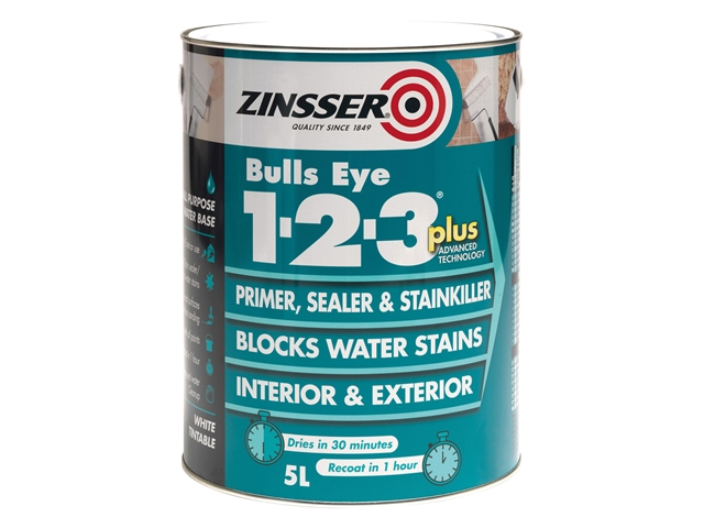 123 Bulls Eye Plus Primer & Sealer Paint 2.5 Litre